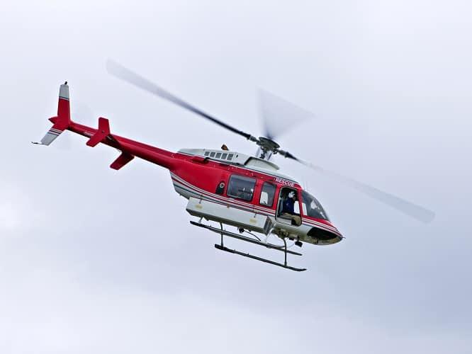 valentinsgave - Helikoptertur