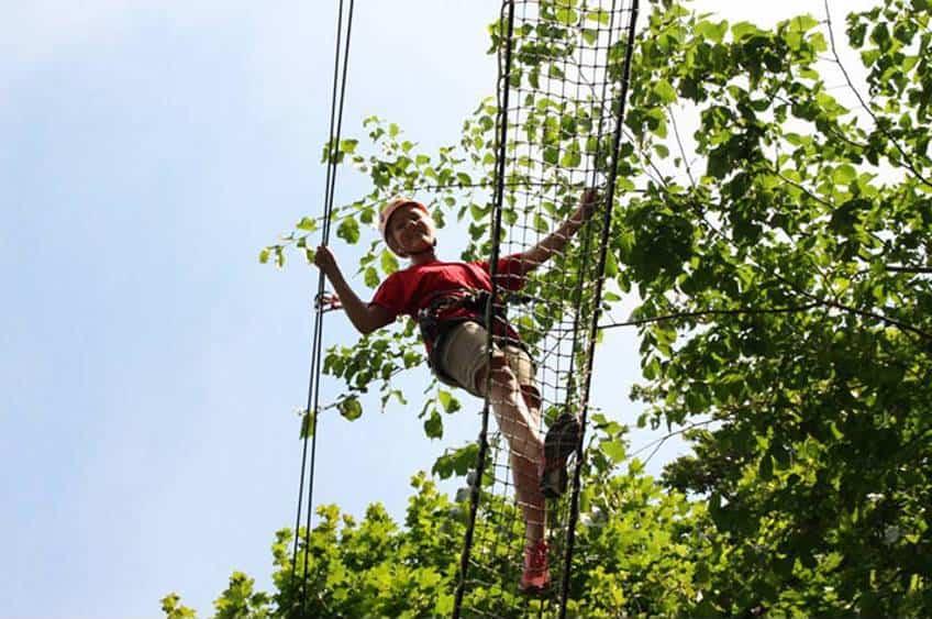 klatring i den skønne natur