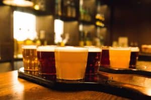 Ølsmagning hos Tir Na Nog